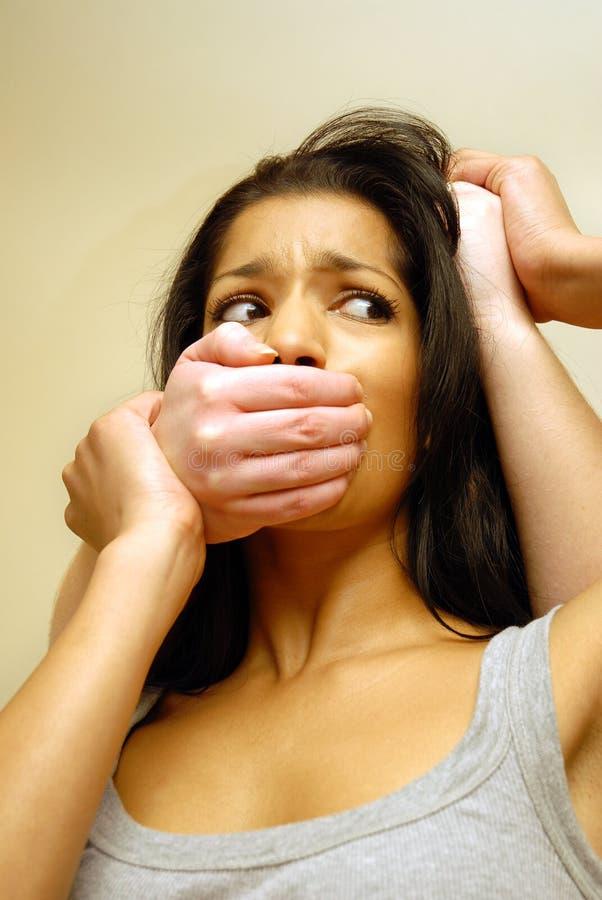 家庭暴力 库存图片