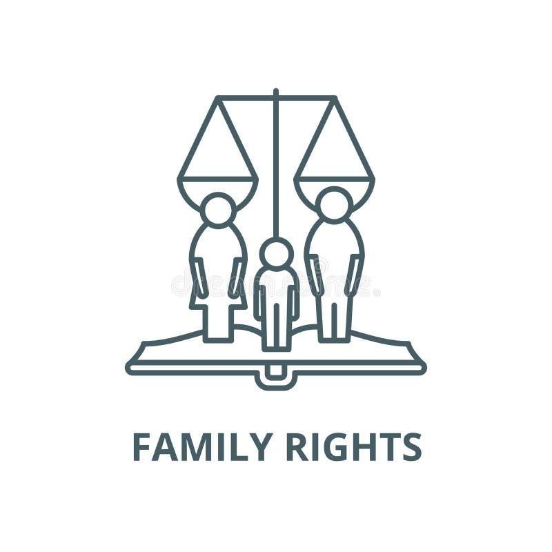 家庭权利导航线象,线性概念,概述标志,标志 库存例证