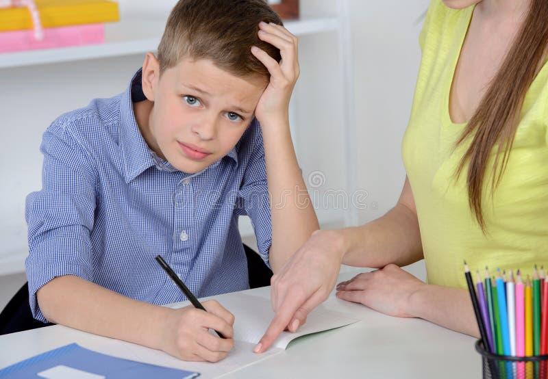 家庭母亲儿子 免版税库存照片