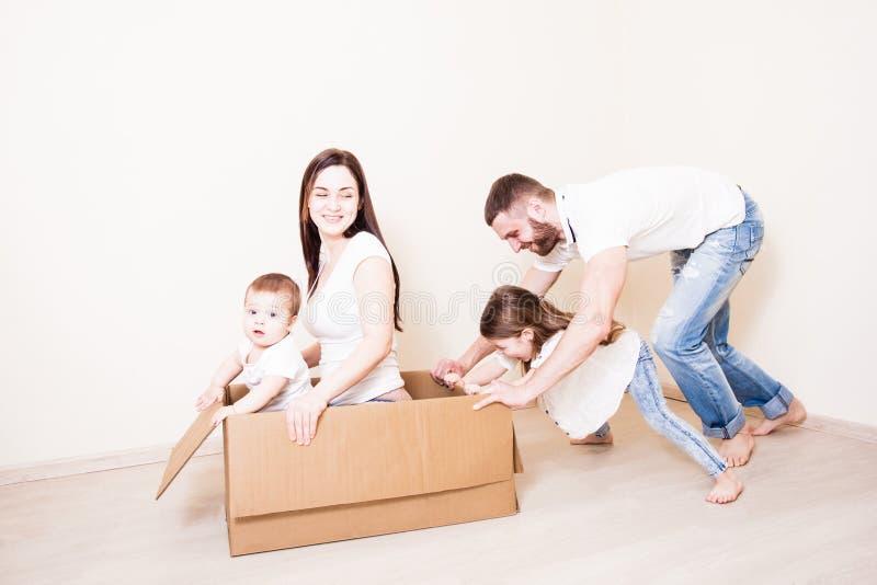 家庭比赛-小船 免版税库存图片