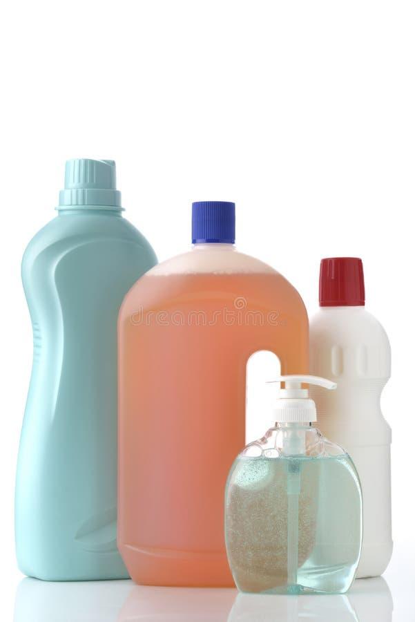 家庭清洁瓶 库存图片