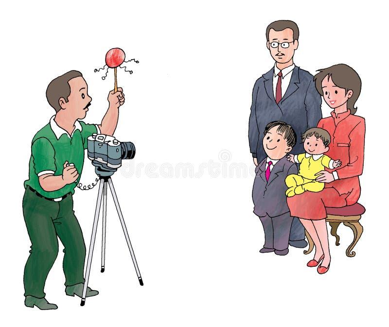 家庭照片 库存例证