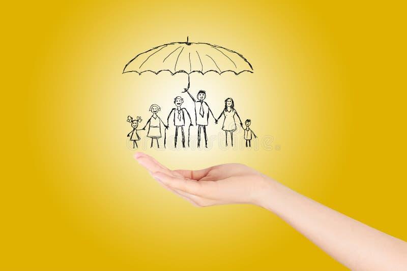 家庭生活保险,家庭 向量例证