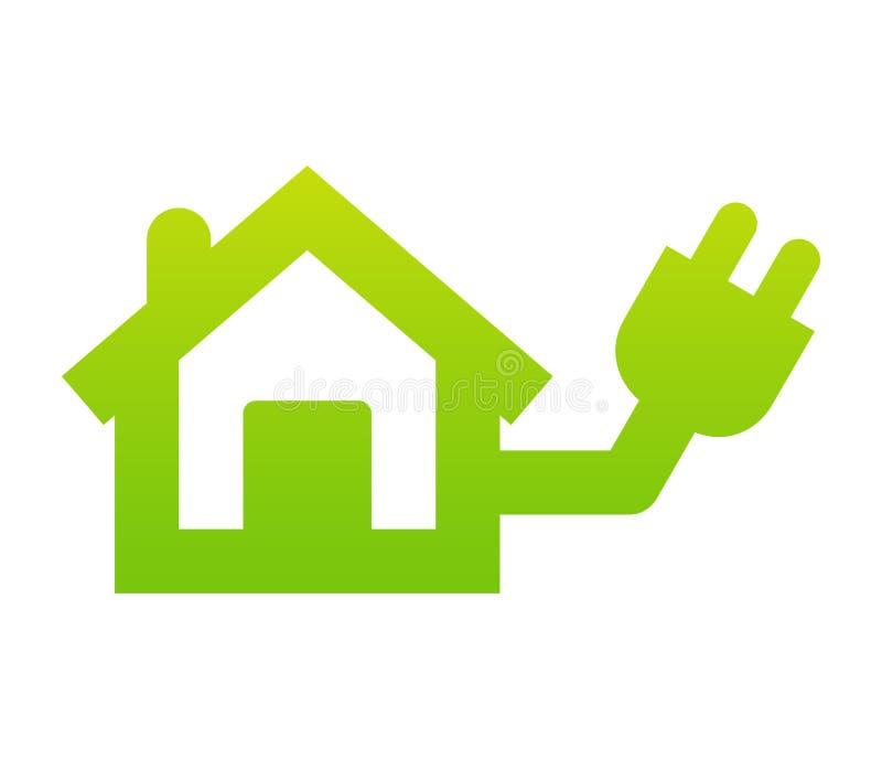 家庭电图标 库存例证