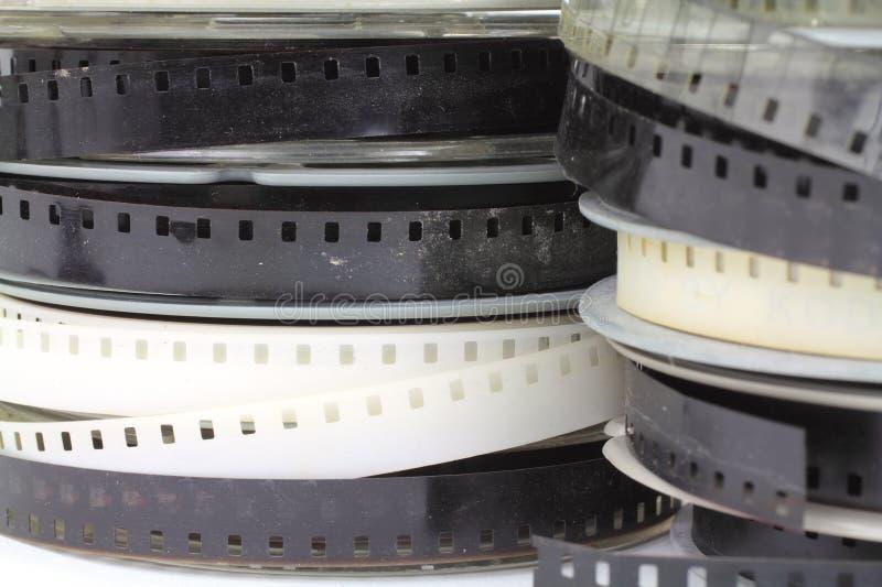 家庭电影老卷轴 免版税库存照片