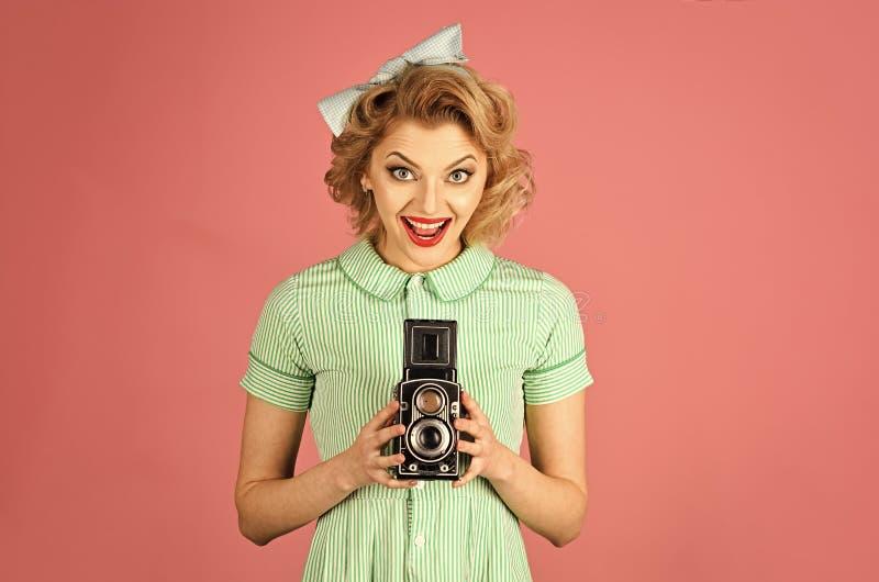 家庭画象,老时尚,新闻事业,画报 免版税库存照片
