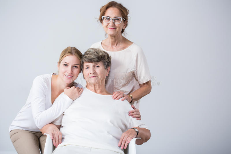 家庭的女性亲属 库存照片