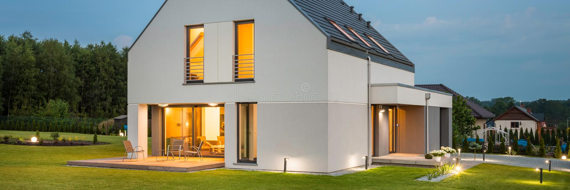 家庭的新房理想 免版税图库摄影