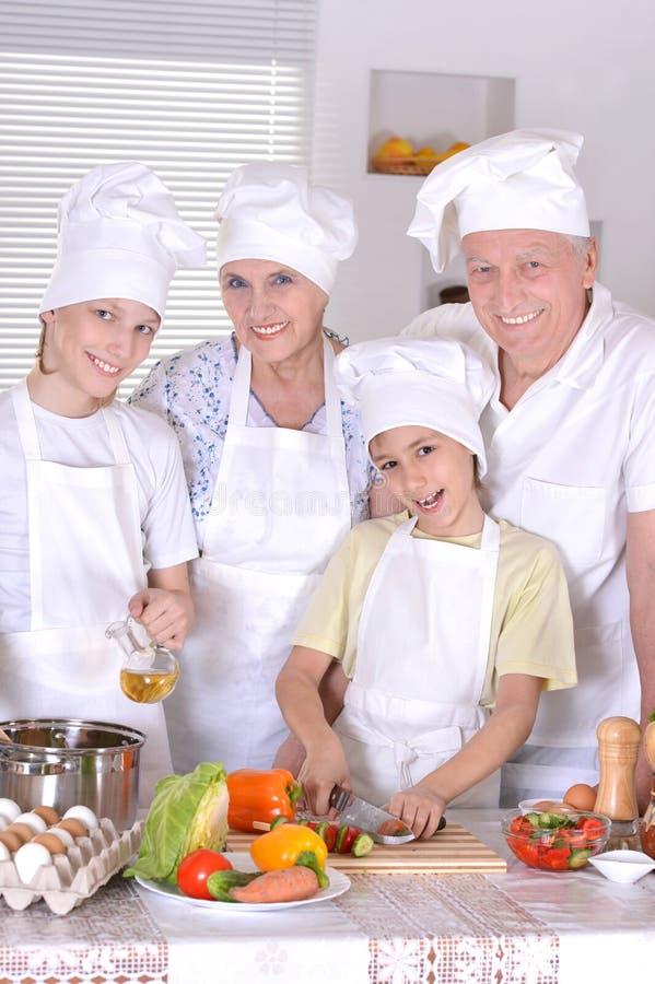 家庭的晚餐 免版税库存照片