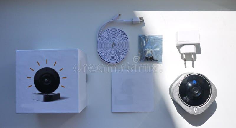 家庭监视器、设备和辅助部件 库存图片