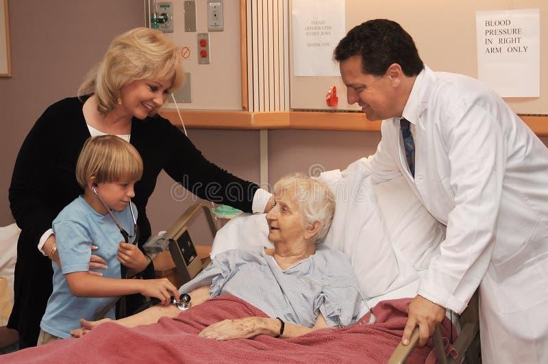 家庭看护访问 库存图片