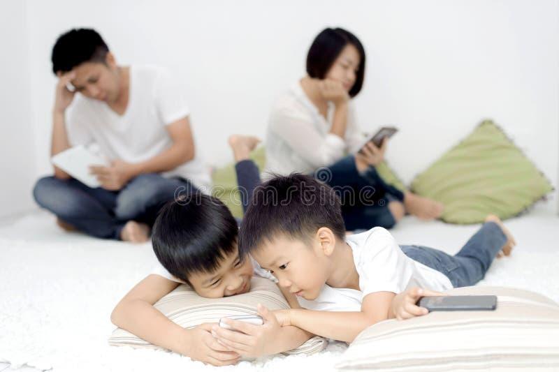 家庭社会网络设备 库存照片