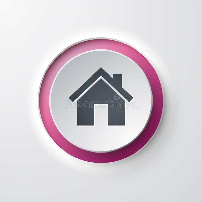 家庭网象按钮 库存例证
