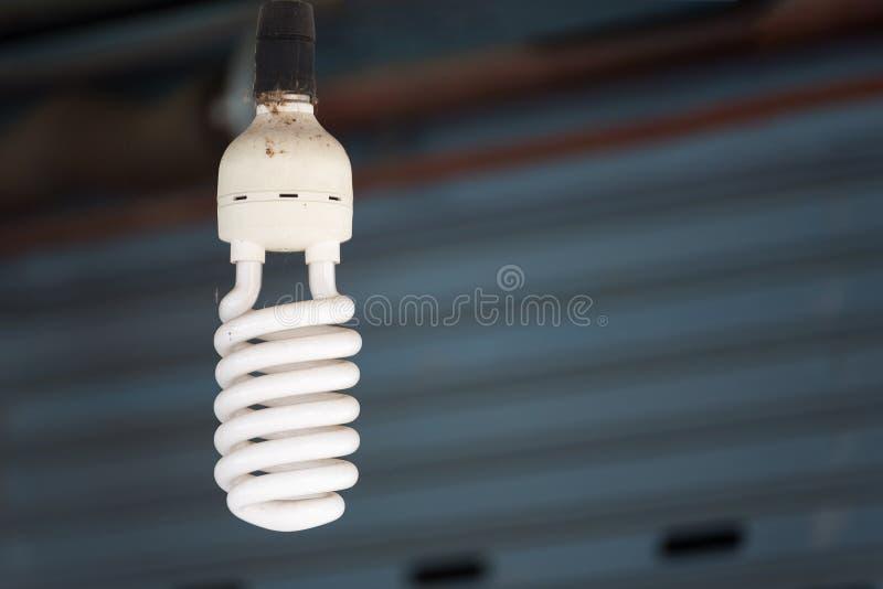 家庭装饰的节能荧光灯电灯泡 免版税库存图片