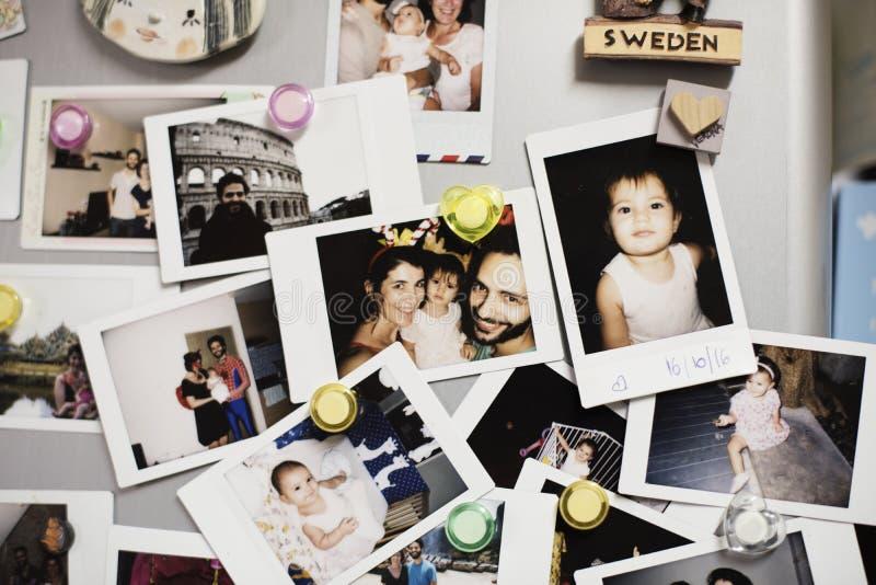 家庭记忆照片汇集 免版税库存图片