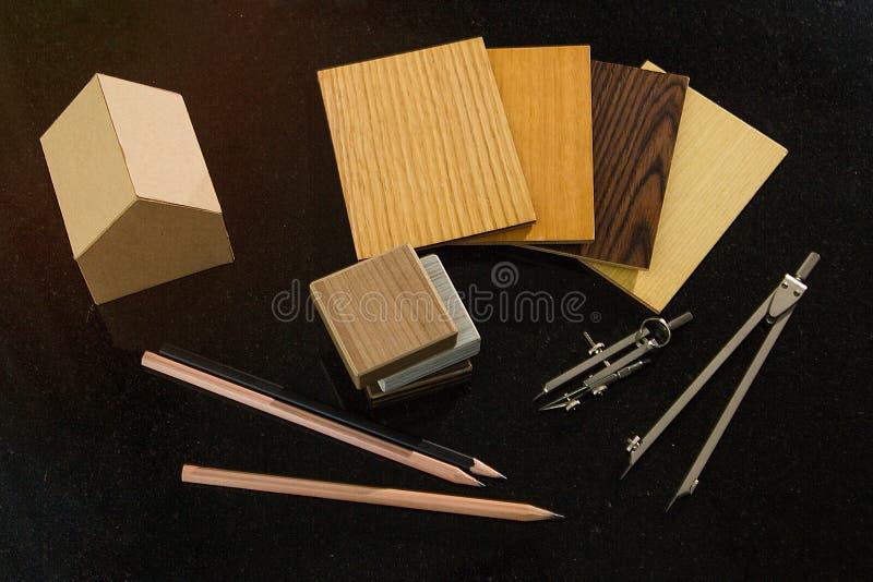 家庭设计和建筑conce的samply Achitect材料 图库摄影