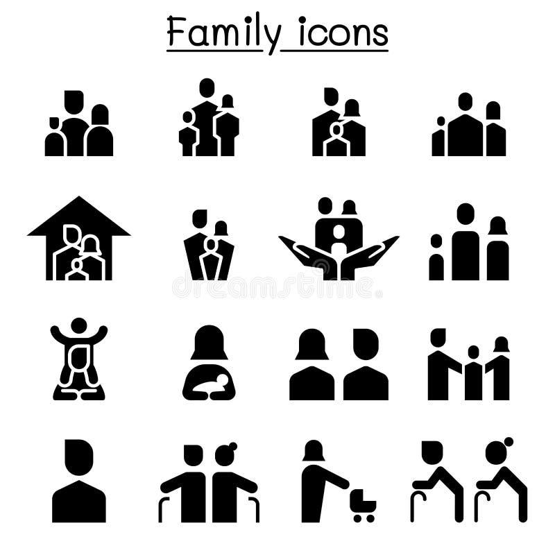 家庭象集合例证图形设计 向量例证