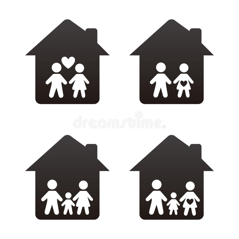 Download 家庭象 向量例证. 插画 包括有 设计, 母亲, 人员, 童年, 子项, 字符, 女孩, 抽象, 孩子, 成人 - 30333560