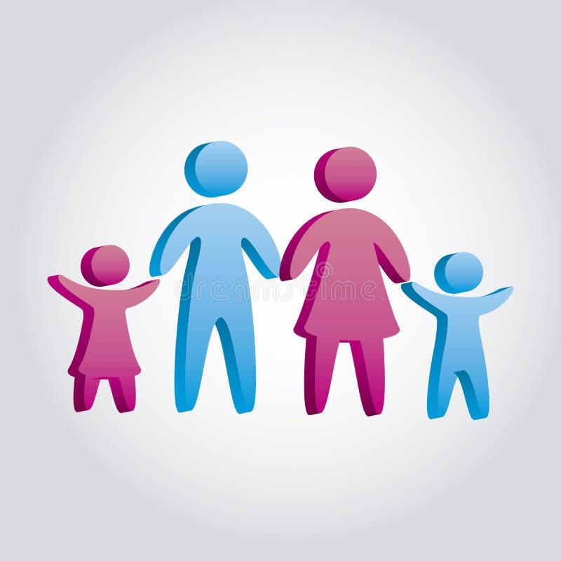 Download 家庭象 向量例证. 插画 包括有 字符, 抽象, 父项, 女孩, 设计, 成人, 粉红色, 证券, 安全 - 30333564