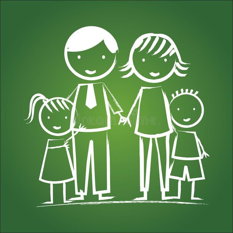 Download 家庭象 向量例证. 插画 包括有 生成, 装饰, 孩子, 字符, 女儿, 母亲, 童年, 绿色, 系列, 人们 - 30333598