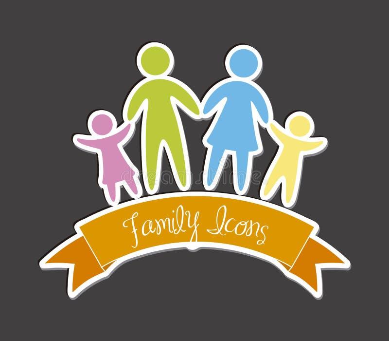 Download 家庭象 向量例证. 插画 包括有 概念, 成员, 女孩, 女儿, 绿色, 图标, 人们, 系列, 人力, 五颜六色 - 30333681