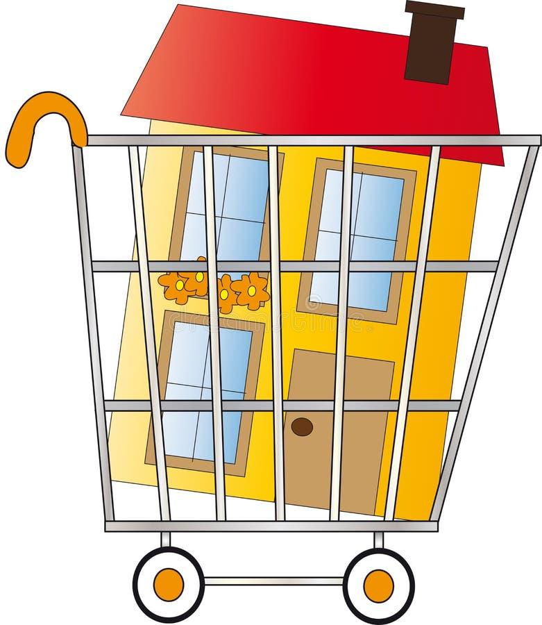 家庭购物 向量例证