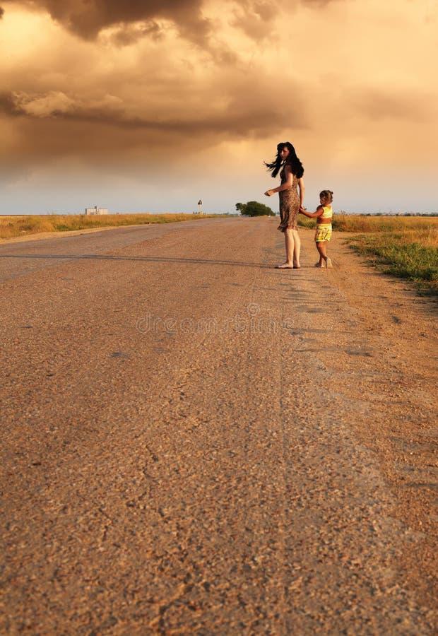 家庭路 免版税库存图片