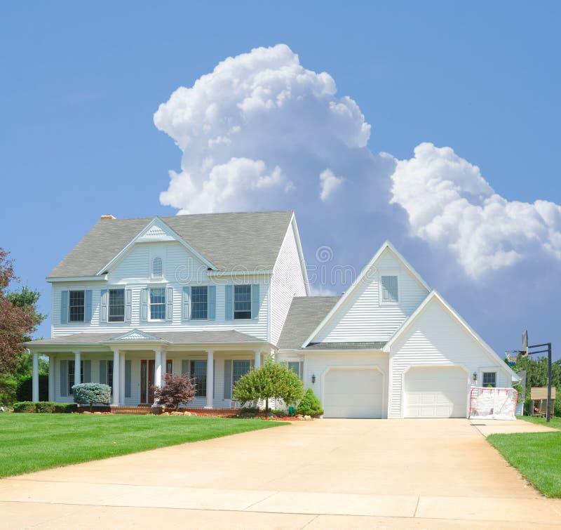 家庭郊区 免版税库存图片