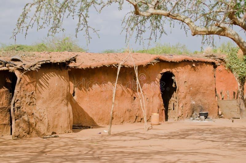 家庭马塞语 图库摄影