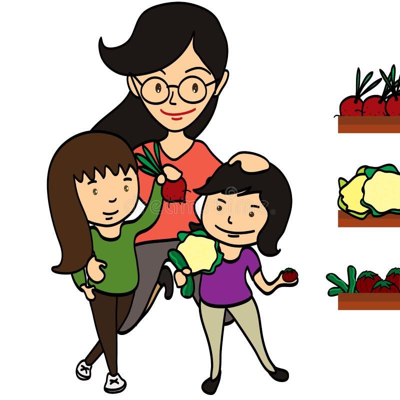 家庭购物菜 库存例证