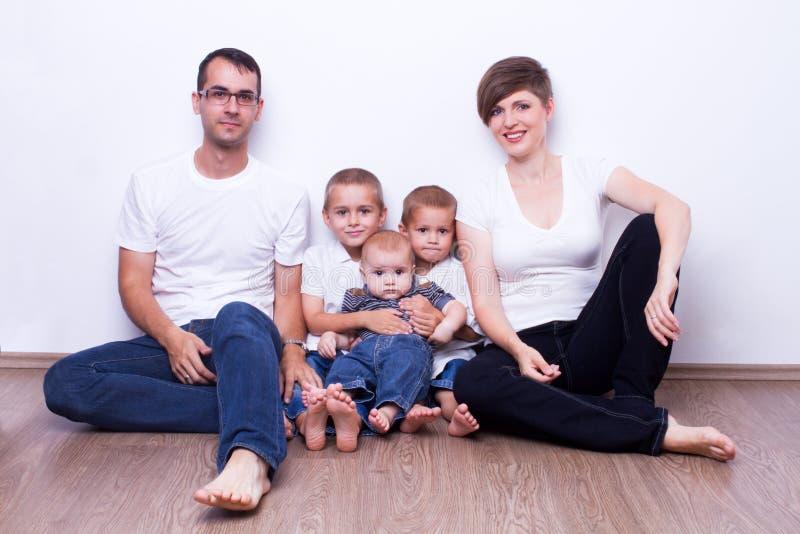 家庭画象 图库摄影