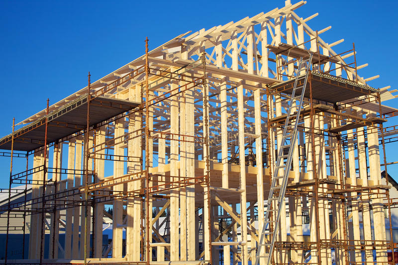 家庭建造场所 免版税图库摄影