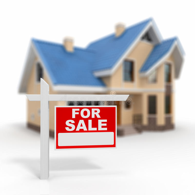 家待售符号 向量例证