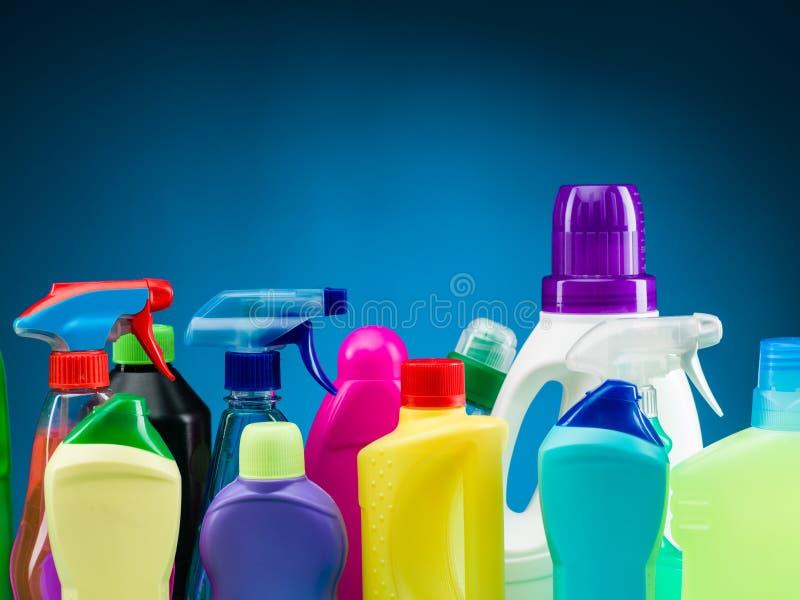 家用化工产品物品 免版税库存照片