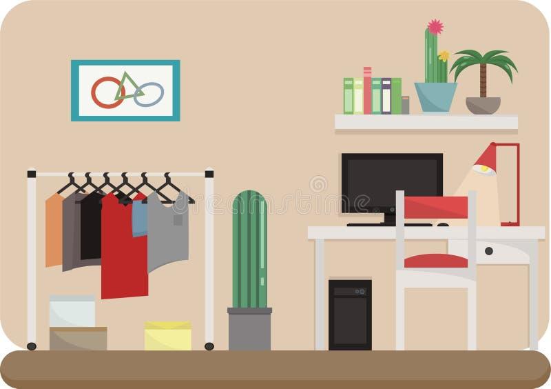 家用家具在屋子里 免版税库存照片
