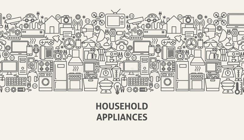 家用电器横幅概念 向量例证