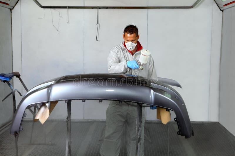 画家用途适用于油漆的喷枪防撞器 免版税库存图片