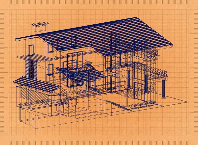 家的减速火箭的图纸 向量例证