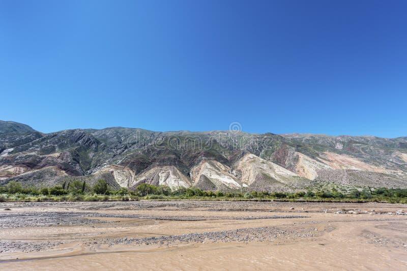 画家的调色板在Jujuy,阿根廷。 免版税库存照片