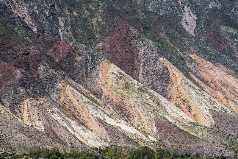 画家的调色板在Jujuy,阿根廷。 库存照片