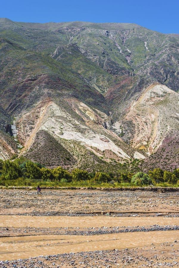 画家的调色板在Jujuy,阿根廷 库存照片