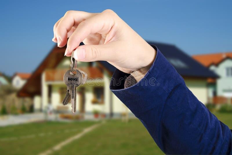 从家的钥匙 库存照片