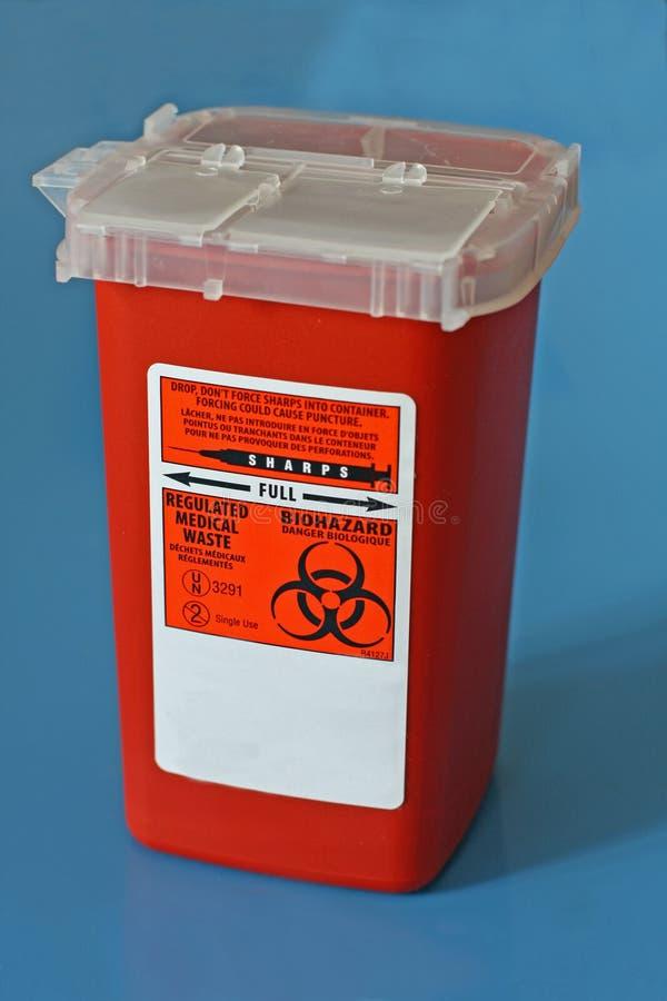 容器使用的针锐利 免版税库存照片