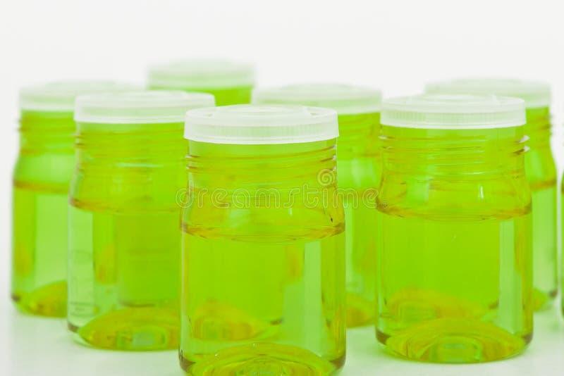 容器化妆用品玻璃 免版税库存照片