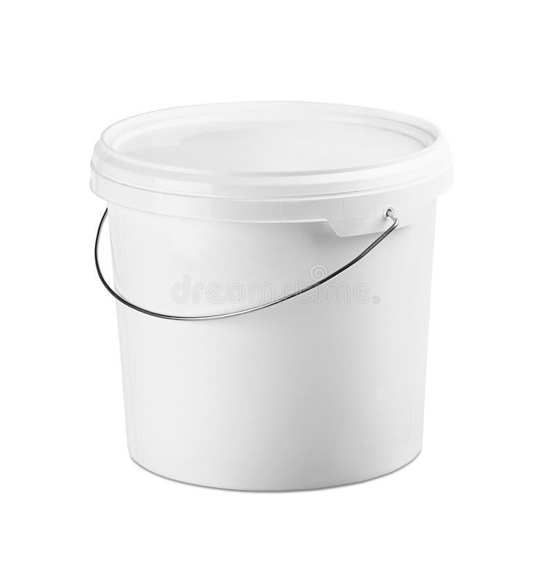 容器塑料白色 免版税库存照片