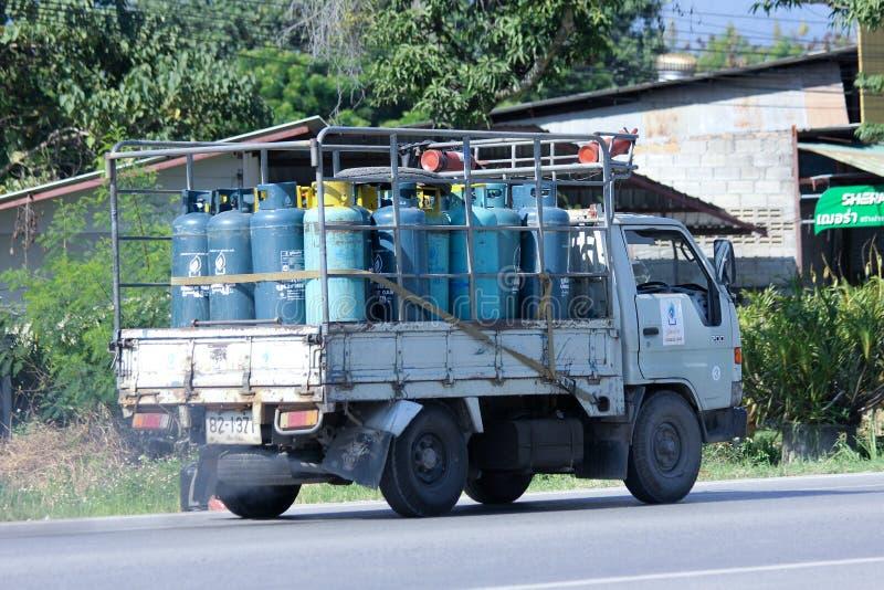 容器拾起KCG金Chua小组卡车  免版税库存图片