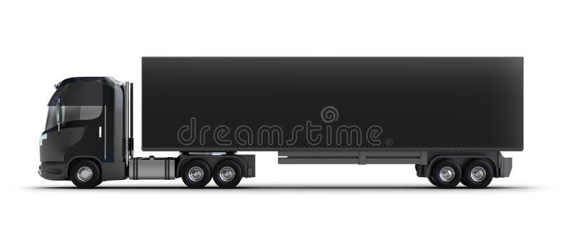 容器查出的卡车白色 向量例证