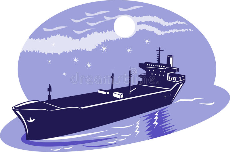 容器空的月亮船 库存例证