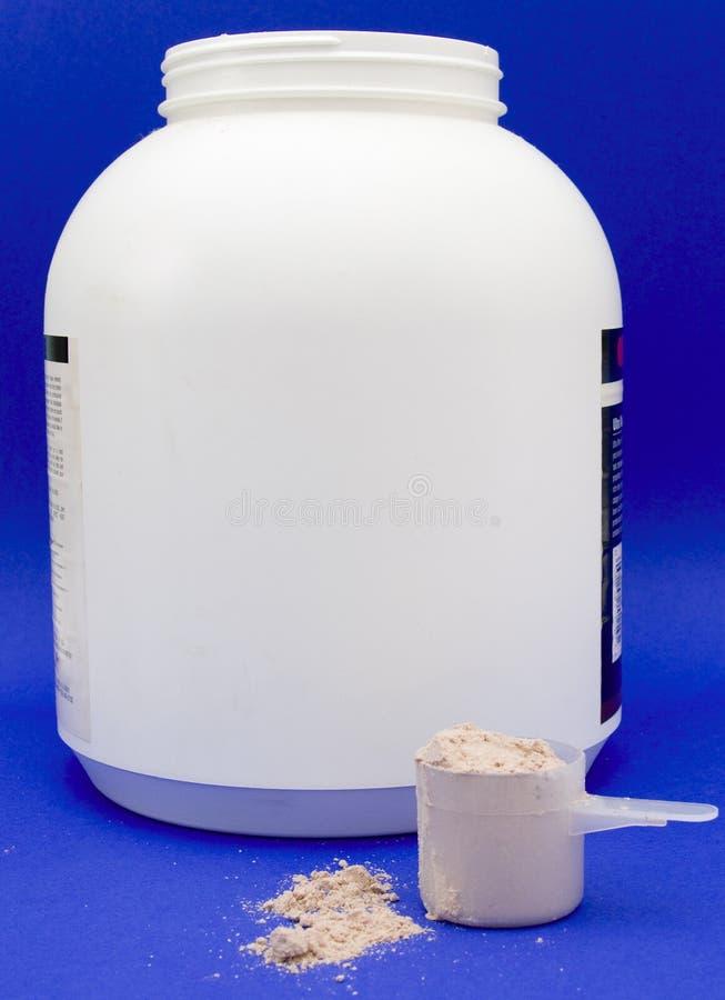 容器蛋白质瓢震动 库存图片
