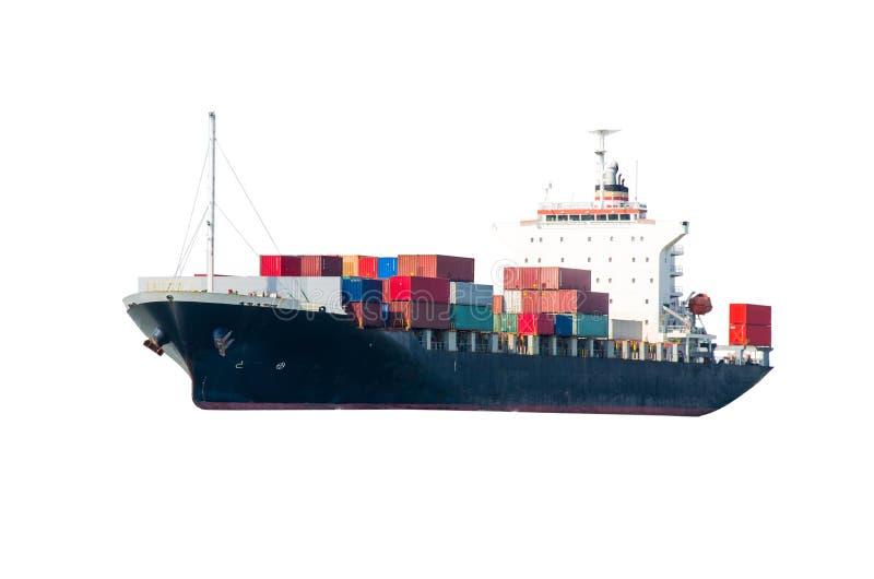 容器货船 免版税库存照片